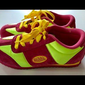Von Dutch Sneakers Pink Neon Yellow Sz 7